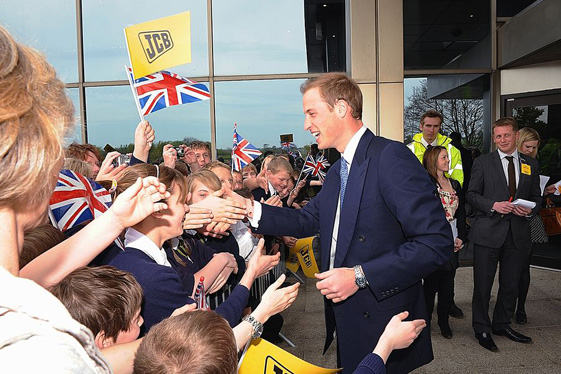 Prince William visit to JCB