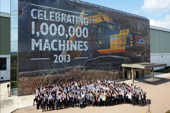 1000000 MACHINE CELEBRATION, JCB HISTORY